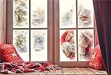 Cassisy 2,2x1,5m Vinilo Navidad Telon de Fondo Navidad Santa Telón de Fondo de la Ventana Paisajes nevados de Invierno Fondos para Fotografia Party Infantil Photo Studio Props Photo Booth