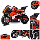 Fit Right 2020 Mini Gas Pocket Bike 03 On 40cc 4 Stroke, Support Up to 165 lbs, EPA Approved, Perfect Mini Pocket Bike for Kids- Ultra Edition (Orange)