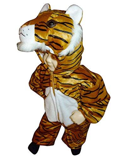 F14 Taglia 12-18M (80-86cm) Costume da tigre per bambini e neonati, indossabile comodamente sui vestiti normali