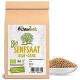 Bio Senfsamen Senfsaat Senfkörner (500g) ganz gelb auch weiß genannt vom-Achterhof ideal zur...