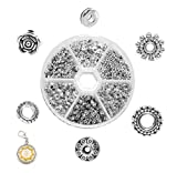 Mandala Crafts Assorted Tibetan Metal Accent Charm Spacer Finding Beads with Holes