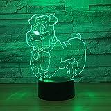 Muttertagsgeschenk der Großmutter Niedlicher Hund Licht Nachtlicht Multicolor Glühbirnen...