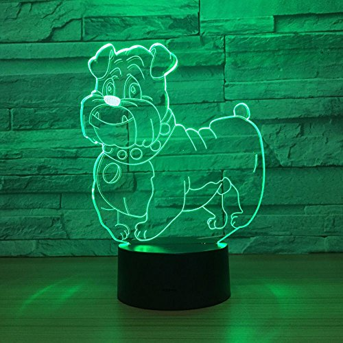 Preisvergleich Produktbild Muttertagsgeschenk der Großmutter Niedlicher Hund Licht Nachtlicht Multicolor Glühbirnen Dekoration Schneller Drop-Transport