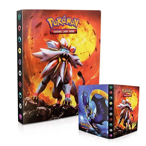 Tarjetero Pokémon, Álbum de Pokemon, Álbum de Cartas Coleccionables Pokémon, Álbum de Entrenador de Cartas Pokémon GX EX. El álbum Tiene 30 páginas y Puede Contener 240 Tarjetas (Sun Moon)