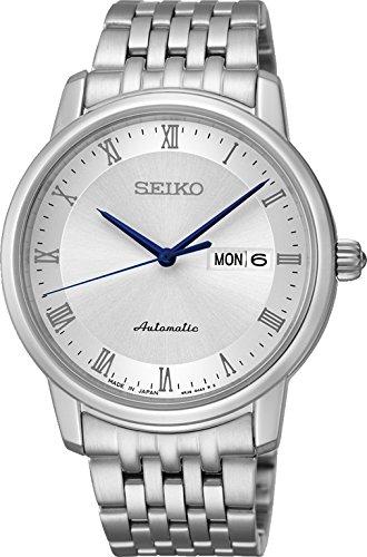 Seiko Srp691j1 Reloj Analogico para Hombre Colección Presage Automatic Caja De Acero Inoxidable Esfera Color Plateado