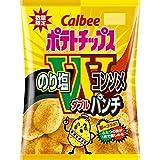 【販路限定品】カルビー ポテトチップス のり塩&コンソメWパンチ 94g×12袋