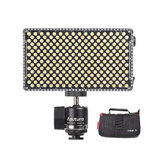 Aputure AL-F7 LED Lampe Vidéo Lumineuse Panel 3200K-9500K Couleur Température CRI95 + 256pcs LED Perles Luminosité Réglable avec Cold Shoe Mount Sac de Transport