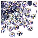 QQINGHAN Piedras brillantes de cristal con parte trasera plana para ropa de costura (color SS16-1440pcs)