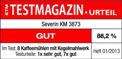 Severin KM 3873 Mahlwerk-Kaffeemühle weiß / silber - 6