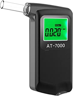 Furhead 2.0 Breathalyzer Portable Professional Breath Alcohol Tester with Digital LCD Display Breath Analyzer High Quality with 5 Mouthpiece