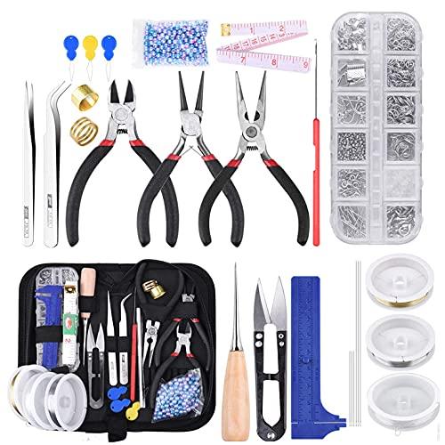 Queta Kit de DIY herramientas de fabricación de joyas, Herramientas para Hacer...