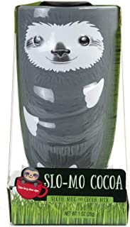 Thoughtfully Gifts, Slo-Mo Cocoa Sloth Mug and Cocoa Mix Gift Set