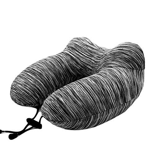 NCONCO Cuscino da viaggio gonfiabile per dormire collo cuscino di sostegno con benda paraorecchie sacchetto di immagazzinaggio per aereo auto