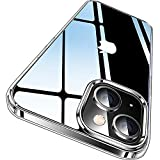 CASEKOO Crystal Clear Kompatibel für iPhone 13 Hülle 2021, [Nie Vergilbung] [Unzerstörbarer Militärschutz] Stoßfeste Kratzfeste Schutzhülle Transparent Hülle Dünne Handyhülle 6,1 Zoll - Durchsichtig