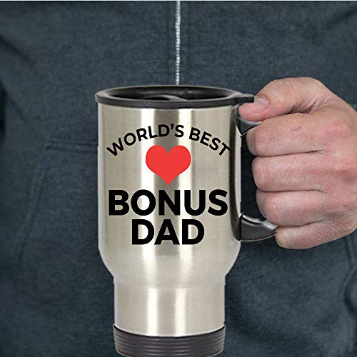 Worlds Best Bonus Dad Travel Mug keep warm Storage Thermoses Steel Insulated Tumbler Outdoor Recreation hiking Sports Water Bottles