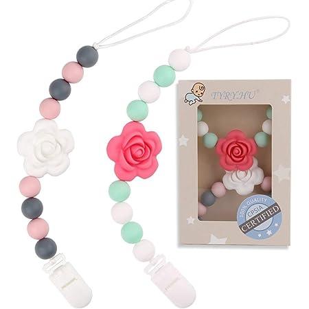 Baby Shower Gift Baby accessory| Macram\u00e9 Boho Baby Pacifier-Teething Clip macram\u00e9 Many styles available