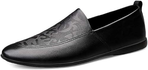 XSY2 Chaussures Hommes Décontracté Décontracté Mocassins Plats Mocassins Confort Slip-Ons Lazy chaussures Noir Blanc Marron  pratique