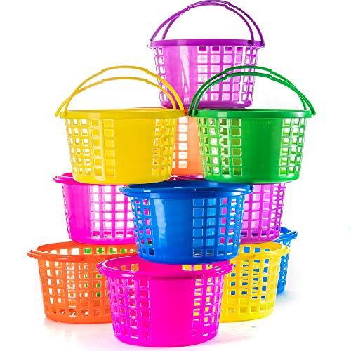 Prextex Easter Eggs Basket Great for Easter Egg Hunts and Easter Eggs Festival Easter Baskets, Pack of 12