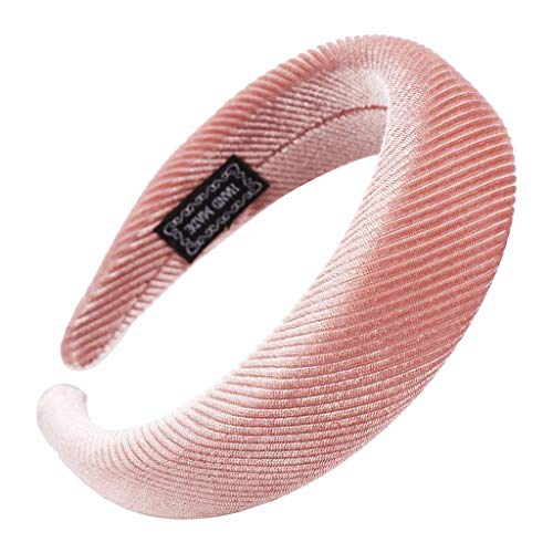 YWLINK Mode Samt Sport Haarband Volltonfarbe Damen Haar Kopfband Einfache SüßE MäDchen Stirnband(B Rosa,)