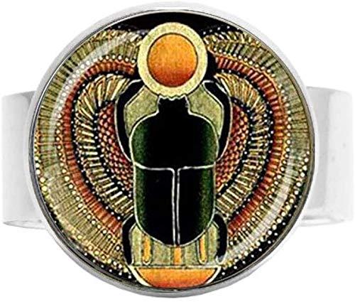 Symbol der Stärke Ägyptischer Skarabäus Ring Vintage Ägyptische Kunst Foto Schmuck