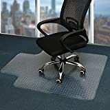 Office Chair Mat for Carpet, PVC Transparent Thick Protector with Studs for Low Pile Carpeted Floor, Mat for Desk Home and Flat Without Curling (36' X 48' with Lip)