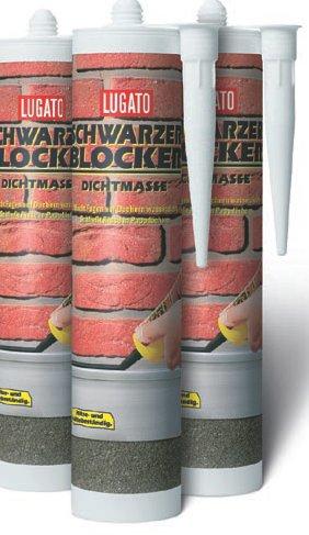 Lugato Schwarzer Blocker Dichtmasse 310 ml - Einfacher Fugenverschluss auf Bitumendächern
