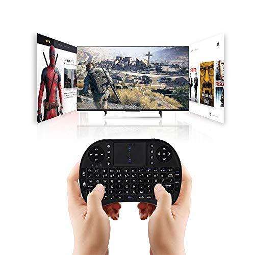 Mini Teclado inalámbrico retroiluminado de 2,4 GHz, Panel táctil con Control Remoto, Adecuado para Android TV Box