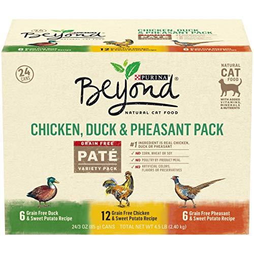 Purina Beyond Grain Free, Natural Pate Wet Cat Food, Chicken, Duck & Pheasant Recipe Variety Pack -...