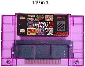 FidgetKute Super 110 in 1 Game Cartridge for SNES 16-Bit Multicart NTSC SNES Super Nintendo