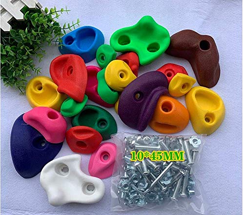ERTYW Children Rock Climbing Holds Colored Climbing Stones With Installation Hardware for Climbing Frame Wall, 16,23,32 Pieces