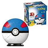 RAVENSBURGER PUZZLE- Ravensburger 11265-Puzzle 3D Pokéballs (54 Piezas, para Fans de Pokémon a Partir de 6 años), Color Blanco (11265)