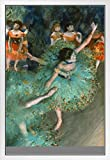 Edgar Degas The Green Dancer 1879 Poster mit Rahmen, 35,6 x