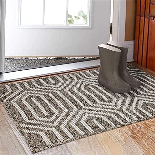 SHACOS Felpudo Exterior Felpudo Casa Entrada Felpudo Interior Lavable Alfombra Entrada Casa Exterior Grande 90x60 cm