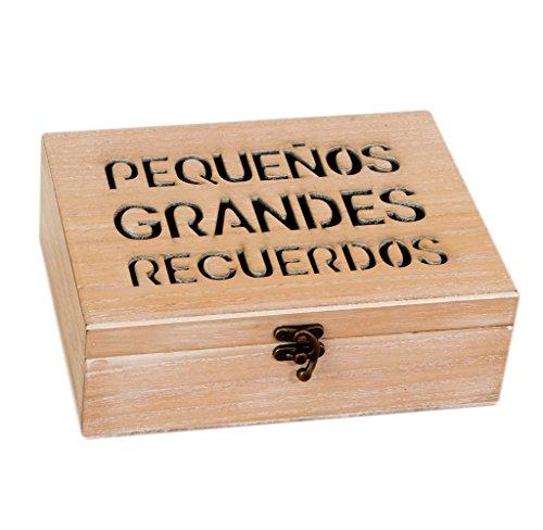 Mopec W1601 Cofre para Dejar Mensajes, Madera, Marrón, 17 x 23 x 8 cm