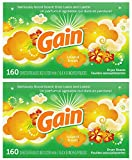 Gain Dryer Sheets, Island Fresh, 160 Count, 2-Pack