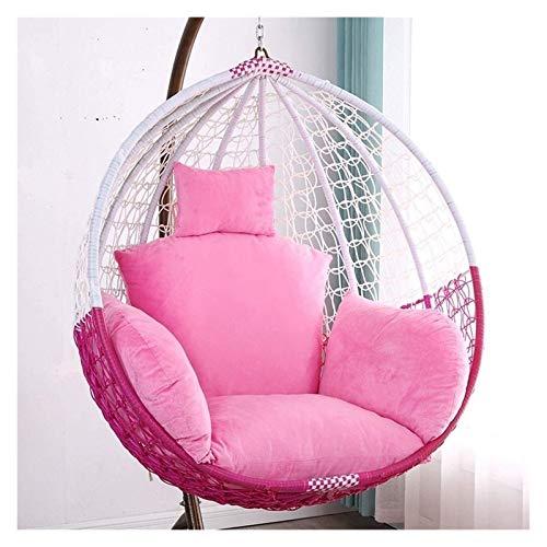 Cojines al aire libre para Sillas de Patio Huevo Silla amortiguador de la hamaca Espesar silla colgante de cojín cojín de la silla del oscilación con la almohadilla for el interior del jardín colgante
