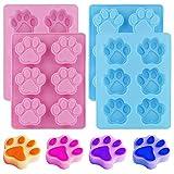 Stampo in silicone per zampa di cane da 4 pezzi, stampo in silicone per zampa di gatto a 6...