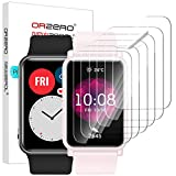 NEWZEROL 6 Stücke Kompatibel für Honor Watch ES Schutzfolie/Huawei Watch Fit Bildschirmschutzfolie [Hülle Fre&lich] TPU Hochauflösende, Kratzfeste Anti-Fingerabdruck- Folie - Klar