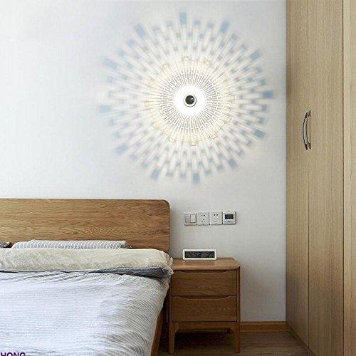 YLXB Creatieve mode persoonlijkheid geleide slaapkamer bedlampje Nordic woonkamer moderne minimalistische zon wandlamp, B,40 cm