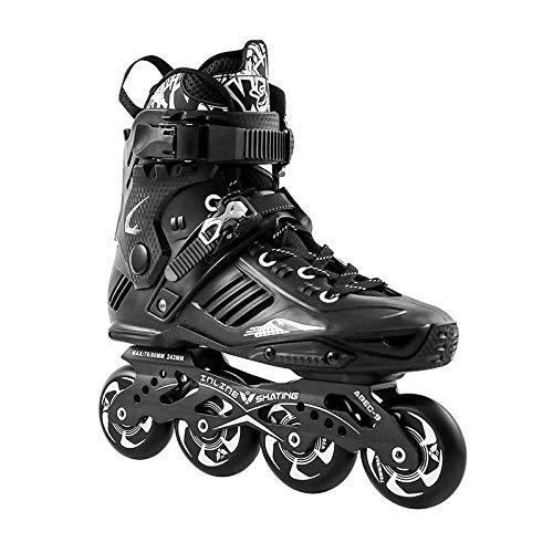 WALLHANG Inline Skate,Student Schlittschuhe,Lust auf Flache Schuhe,Rollschuhe,Unisex,Weiß,37