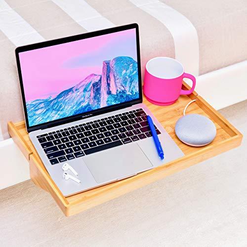 BedShelfie Plus Das Original Nachttisch Regal - 3 Farben / 2 Größen - GESEHEN AUF Business-Insider und Kickstarter (Plus Größe, Bambus in Natürlich)