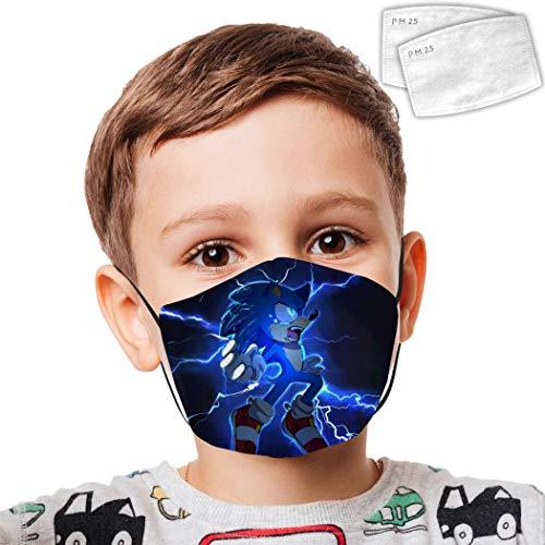 Kids Reusable Mouth Protection Super_S0nic Adjustable Face Masks Children Face Masks Custom Cover Dust Mask White