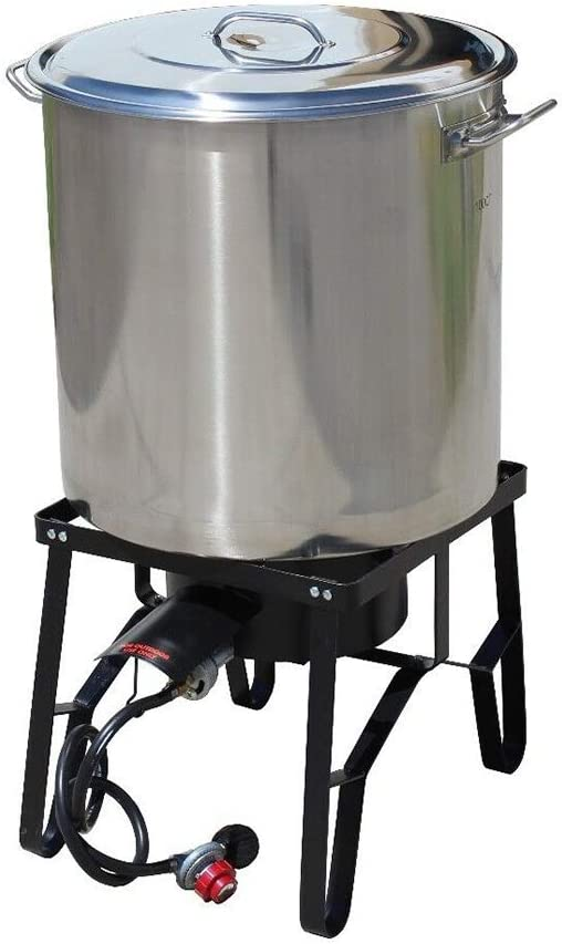 Challenge the lowest price of Japan Thaweesuk Shop 160QT Stainless All stores are sold Steel Kettle Brew w Burner Banjo