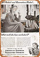 1949アメリカンエクスプレストラベラーズチェックコレクターウォールアート