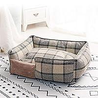 Dmsc 小中大犬通気性オールシーズンズドッグハウス洗えるコットン子犬ソファケンネルペットのためのペットベッド。 (色 : 1, サイズ : S 45x35cm)