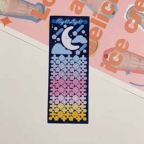 PMSMT INS Hot Art Love Moon Flor Cinta Adhesiva Ins Mano Cuenta Diario Estrella Persiguiendo Cinta Material de decoración Pegatinas Personalizadas