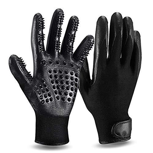ZOOYAUE Fellpflege-Handschuh, 1 Paar Gummi Massagehandschuh für Hunde Handschuh Bürste für Katzen, Haustier Profi Fellpflege Putzhandschuhe für Entfernung Loser Tierhaare