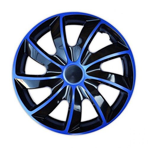 """Radkappen / 4 x Universal Radzierblenden - QUAD blau (15\"""")"""
