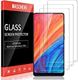 MASCHERI 3 Unidades Protector de Pantalla para Xiaomi Mi Mix 2s y Mi Mix 2 Cristal Vidrio Templado Glass Screen Protector para Xiaomi Mi Mix 2s y Mi Mix 2 Transparente