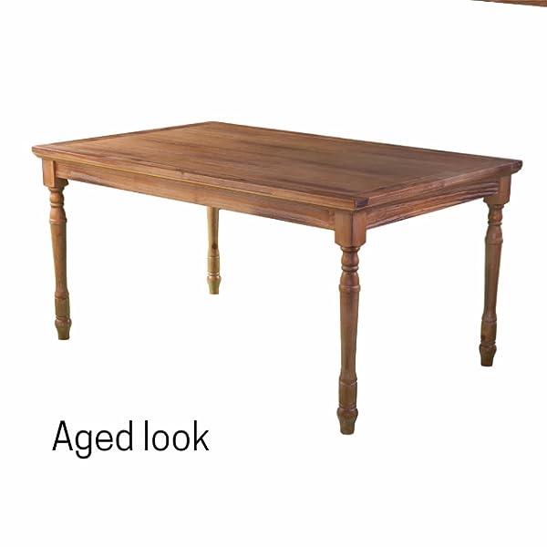 Southern Enterprises Hullerman Dining Table, Aged natural